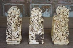 Antique carved wooden wall brackets  <b>SOLD<b>